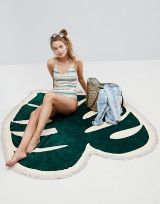 Ban.Do Tropical Leaf Beach Towel