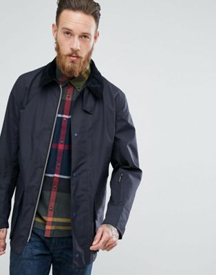 Barbour Heritage Bale Waterproof Jacket in Navy