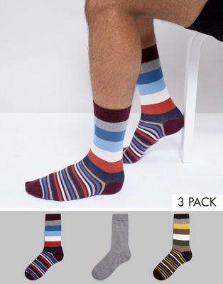 Barbour Heywood Giftbox 3pk Socks