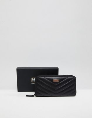 Barbour international zip around logo purse