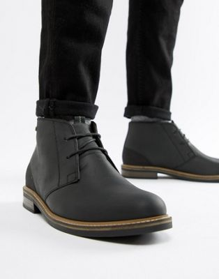Image 1 of Barbour Readhead leather lace up mid boots in black