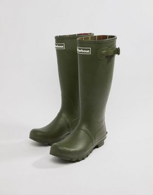 Barbour Tall Wellington Boots in Green