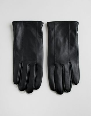Barneys Leather Gloves In Black