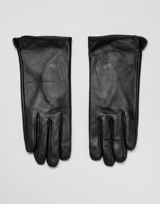 Barney's Originals Touch Screen Compatible Real Leather Gloves