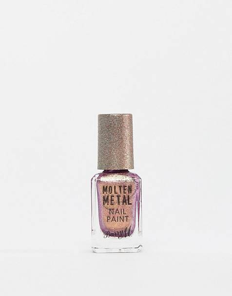 Barry M Molten Metals Nail Polish - Pink Luxe