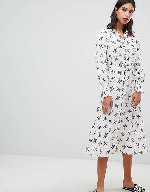 BA&SH Midi Shirt Dress in Floral Print