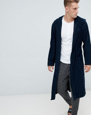 Bata de tejido rizado con logo Bodywear de BOSS