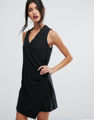 BCBGeneration Black Sleeveless Mini Dress