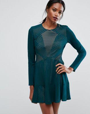 BCBGMAXAZRIA Panelled Mini Dress