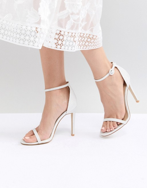 Image 1 of Be Mine Bridal Azalea White Sparkle Barely There Sandals