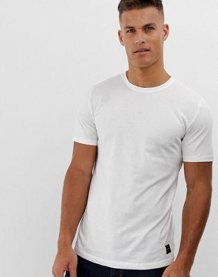 Белая длинная футболка с закругленным краем Only & Sons
