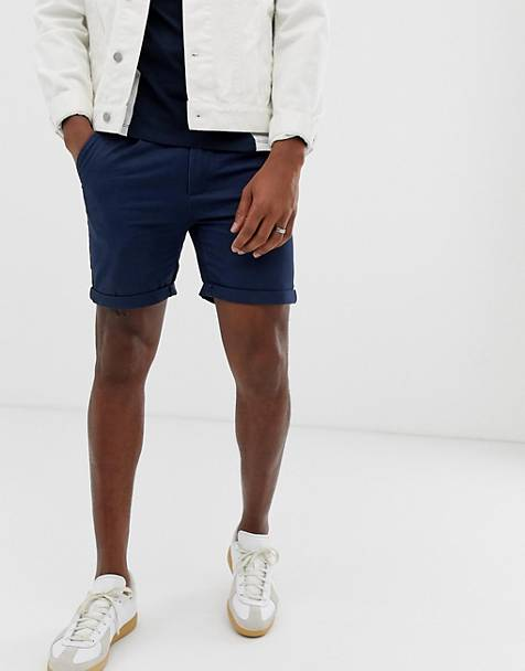 Bellfield - Chinoshort in marineblauw