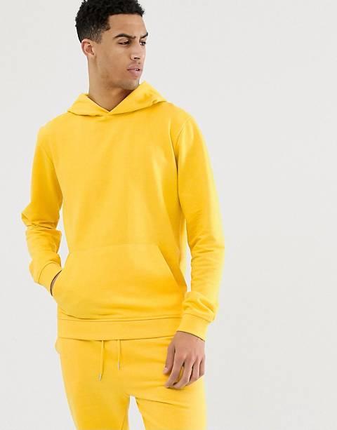 Bellfield - Jersey hoodie in geel