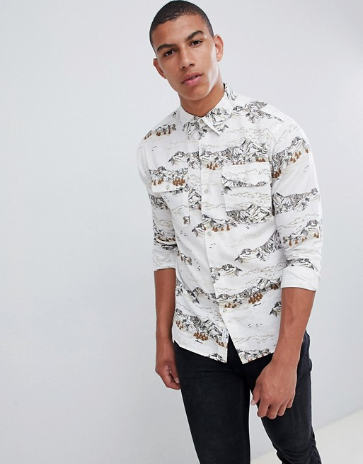 Bellfield Mountain Print Shirt