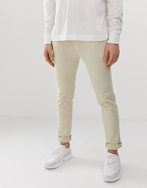 Bellfield - Slim-fit twill chino in kiezelkleur