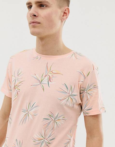 Bellfield - T-shirt met bloemenprint in roze