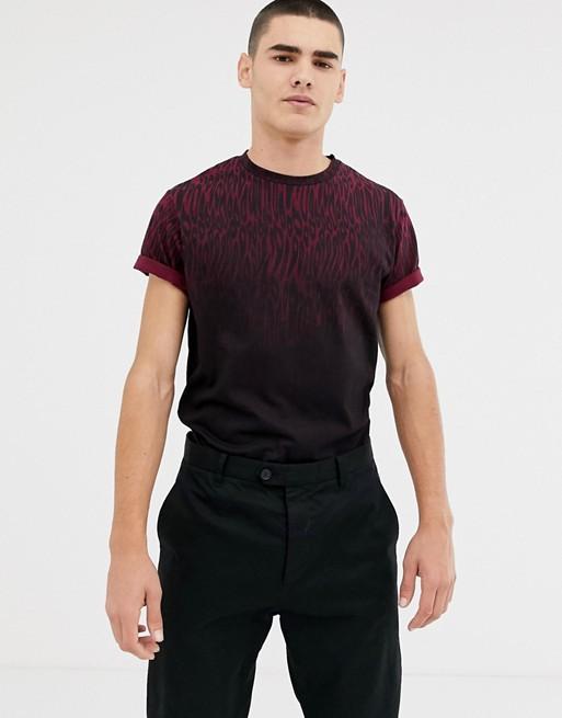 Bellfield – T-shirt z cieniowanym zwierzęcym nadrukiem