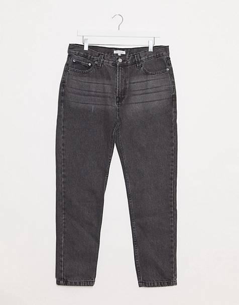 Bellfield tapered jeans in light washed black