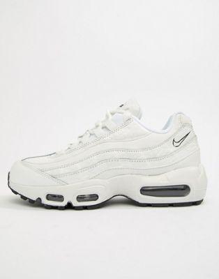Белые кожаные кроссовки Nike Air Max 95