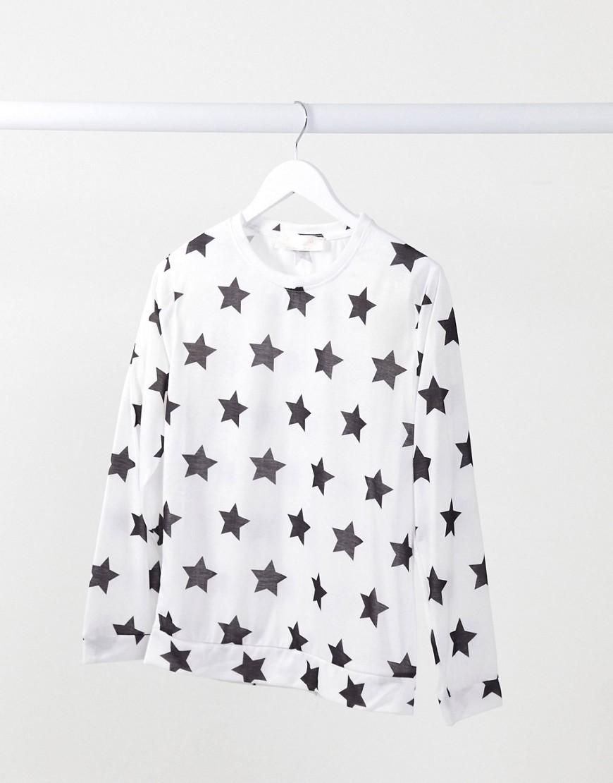 Белый джемпер от пижамы со звездами Outrageous Fortune-Мульти