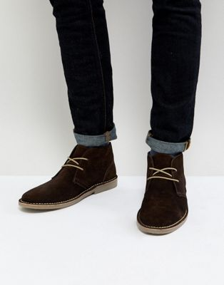 Ben Sherman Desert Boots In Brown