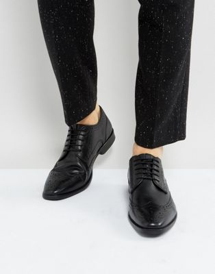 Ben Sherman Smart Oxford Brogues In Black Leather