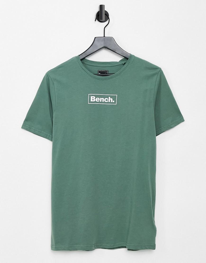 Bench – Logo-T-Shirt in Grün