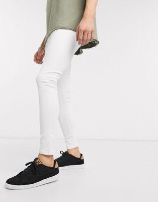 Bershka – Besonders enge Jeans in Weiß