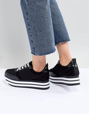Bershka flatform eva sneaker in black