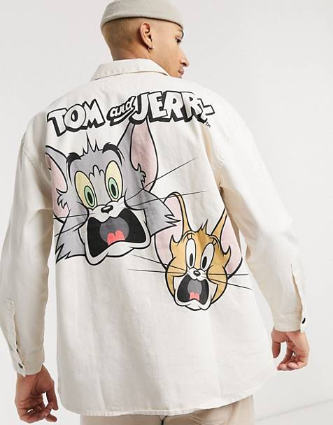 Bershka jacket with Tom & Jerry back print