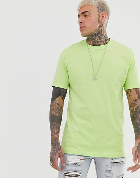 Bershka Join Life Organic Cotton loose fit t-shirt in neon green