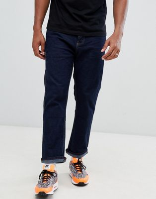 Bershka Joinlife straight fit jeans in dark blue