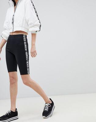 Image 1 of Bershka letter side legging shorts