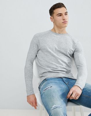 Bershka Lightweight Knitted Jumper In Light Grey