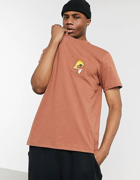 Bershka Looney Tunes t-shirt with Speedy Gonzales embroidery in brown