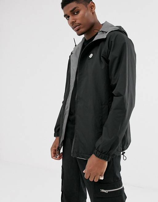Bershka Reflective Reversible Hooded Windbreaker Jacket In Gray by Bershka's