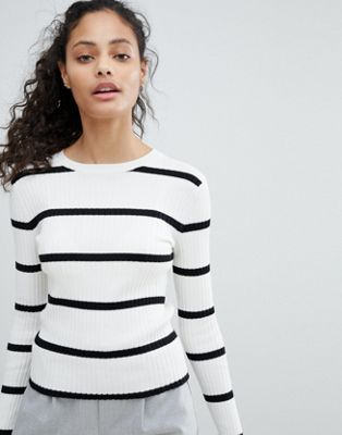 Bershka Ribbed Stripe Jumper