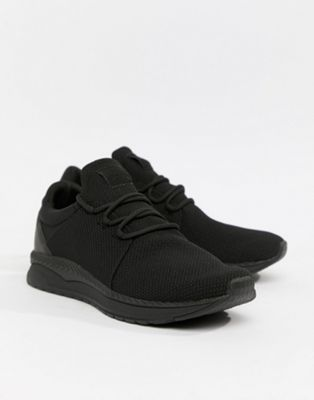 Bershka Runner Trainer In Black