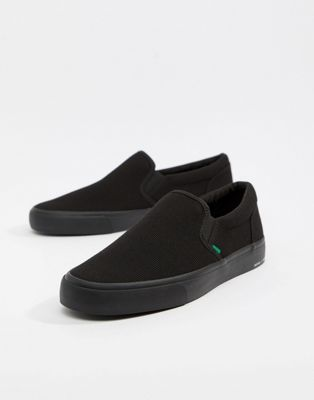 Bershka Slip On Trainer in Black