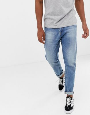 Bershka Straight Fit jeans light blue