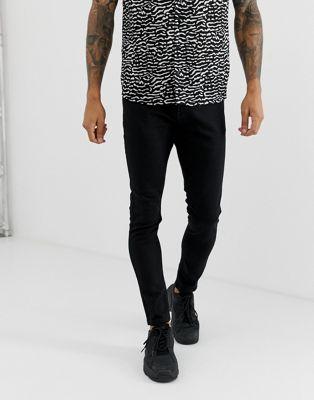 Bershka – Super eng geschnittene Jeans in Schwarz