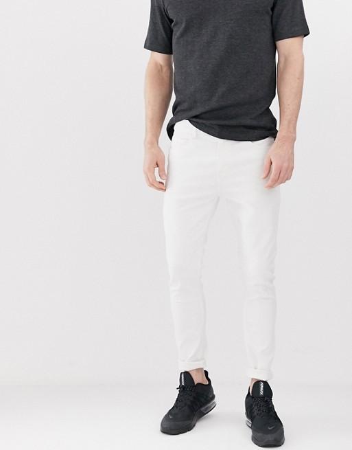 Image 1 of Bershka super skinny jeans in white