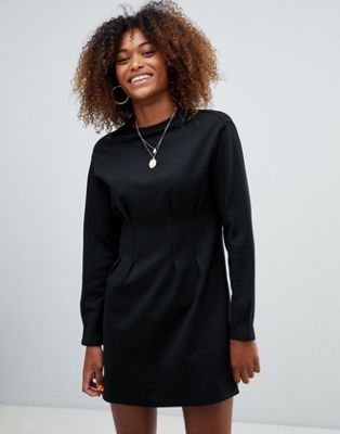 Image 1 of Bershka waist fitted jersey dress