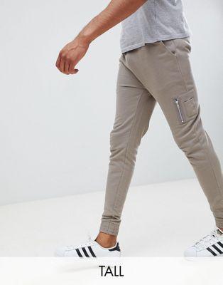 Изображение 1 из Бежевые облегающие джоггеры с карманом MA1 ASOS DESIGN tall
