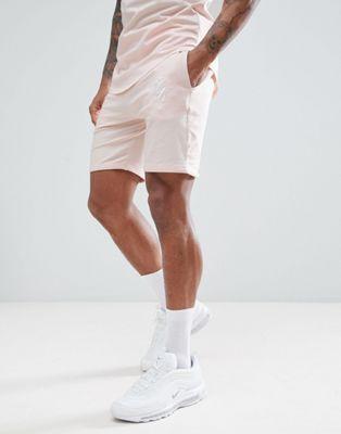 Бежевые шорты с логотипом Gym King