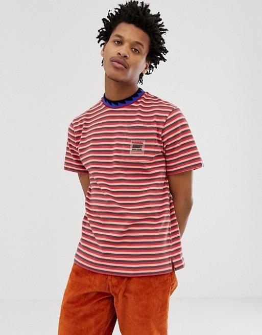 Afbeelding 1 van Billionaire Boys Club - Gestreept T-shirt met zakje in rood