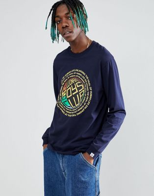 Billionaire Boys Club long sleeve t-shirt with ideal back print in navy