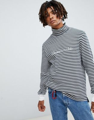 Billionaire Boys Club striped long sleeve t-shirt in white