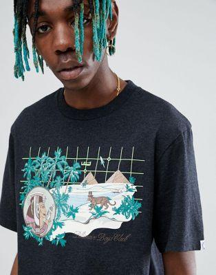 Billionaire Boys Club – Svart T-shirt med landskapsmönster