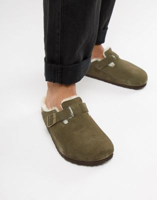 Immagine 1 di Birkenstock - Boston - Sabot verde bosco con interno in lana